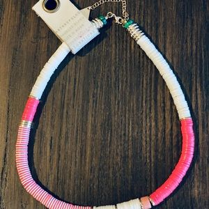 Anthropologie Serefina Pink and White necklace